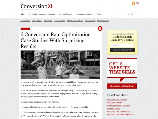 http://conversionxl.com/surprising-conversion-rate-optimization-case-studies/?utm_source=follow.net&utm_source=Follow+Weekly&utm_campaign=e2ad93ad78-Newsletter&utm_medium=email&utm_term=0_b67e45500a-e2ad93ad78-79557845